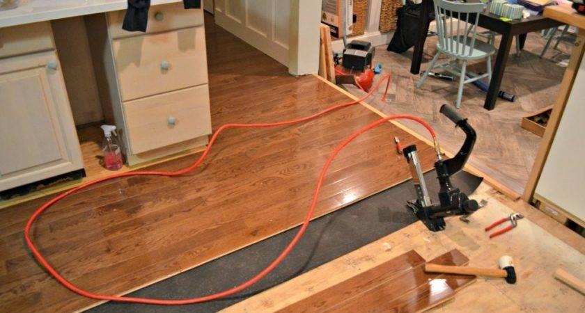Install Hardwood Flooring Kitchen