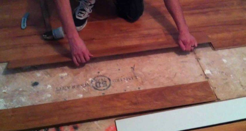 Install Laminate Flooring Plywood Subfloor Youtube