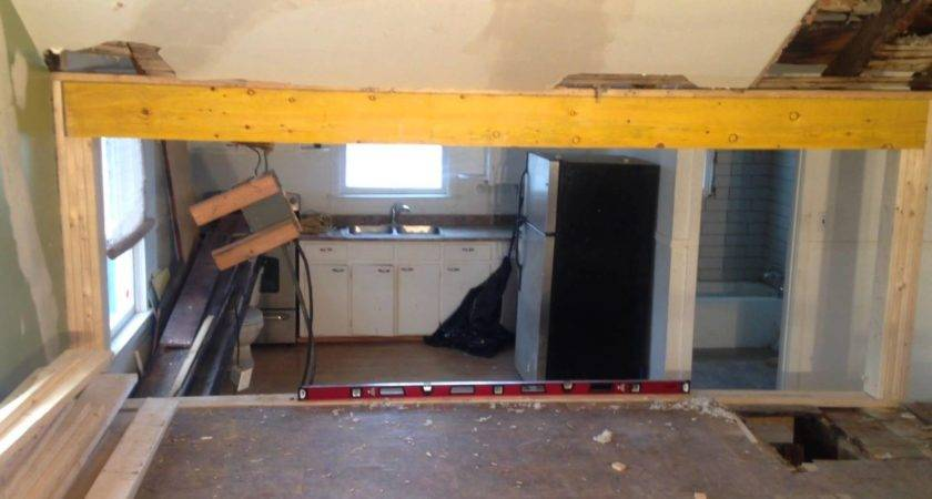 Install Load Bearing Beam Laminated Veneer Lumber
