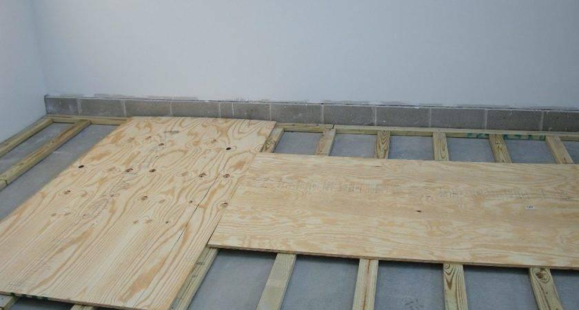 Install Plywood Shop Floor Wood Whisperer