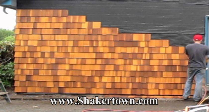 Install Real Cedar Shingles Faster Than Any Other Siding