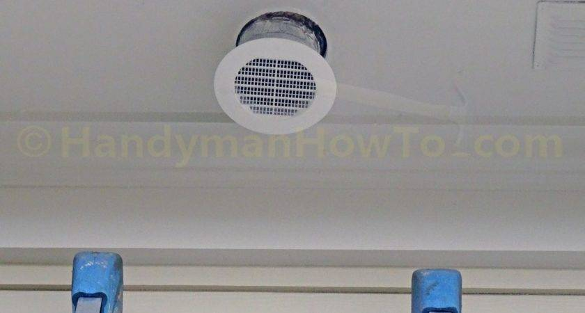 Install Soffit Vent Ductwork Bathroom