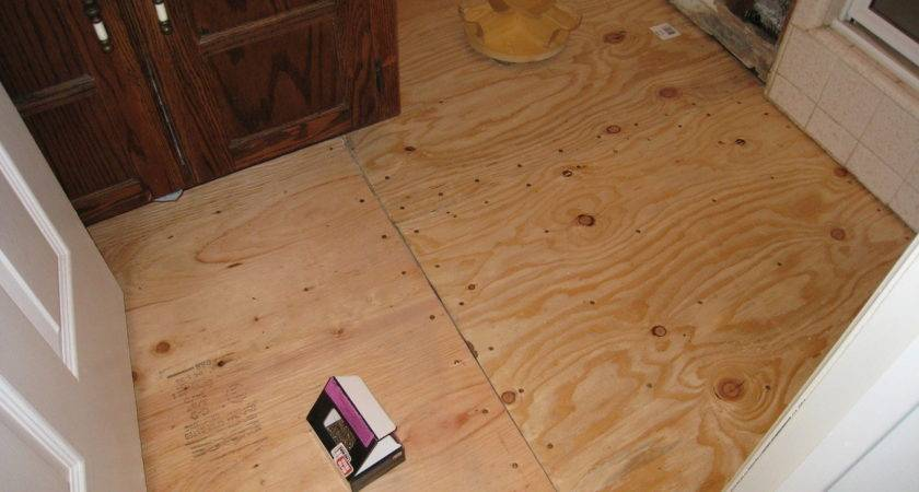Install Subfloor Laying Plywood