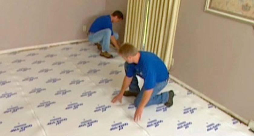 Install Underlayment Laminate Flooring Hgtv