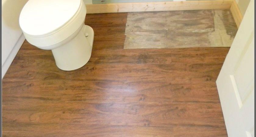 Install Vinyl Plank Flooring Bathroom Cozy