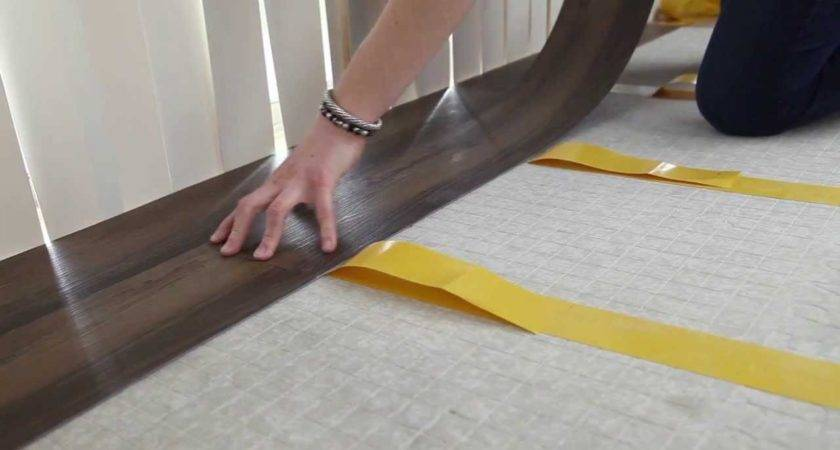 Install Vinyl Plank Flooring Using Double Sided