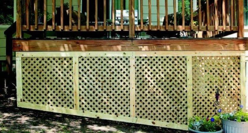Installing Deck Lattice Slope Design Ideas