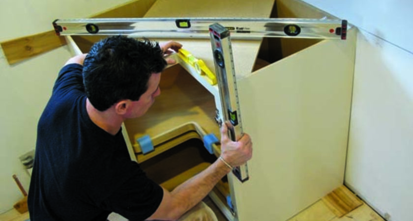 Installing Kitchen Cabinets Uneven Floor Roselawnlutheran