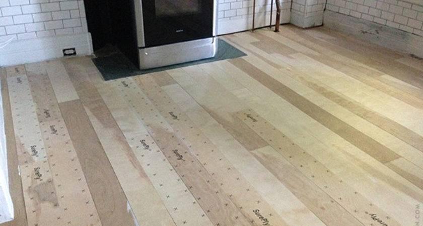 Installing Plywood Plank Kitchen Floor Part One Door