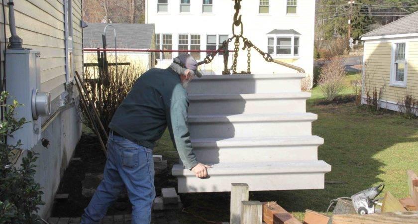 Installing Precast Concrete Steps
