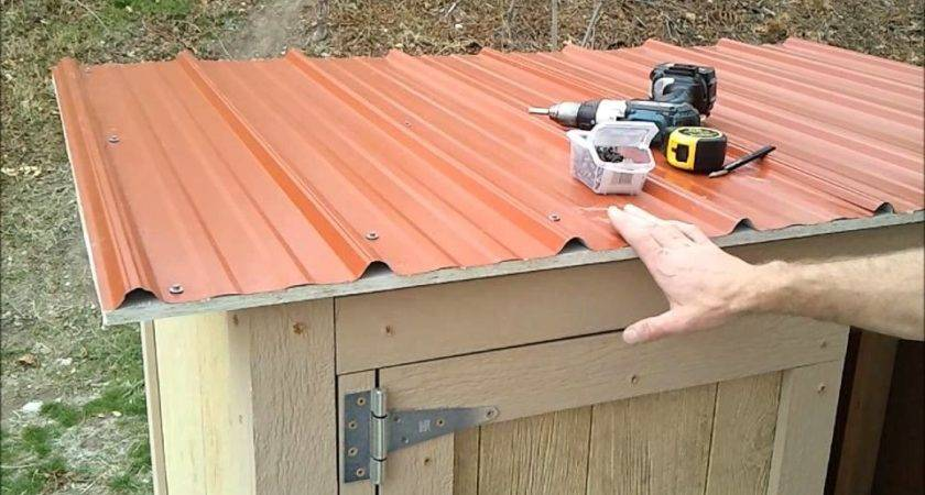 Installing Shed Metal Roofing Build