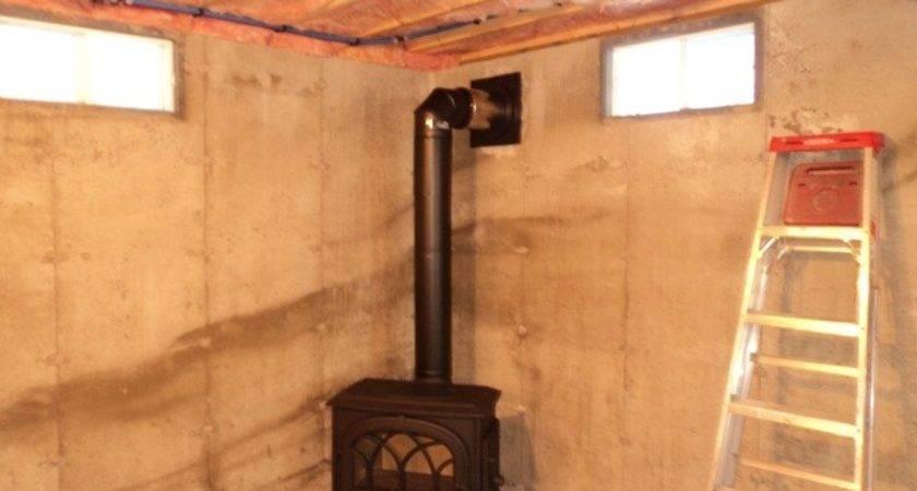 Installing Wood Stove Basement Home