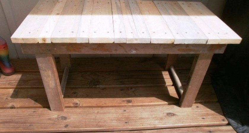 Instructions Make Pallet Bench Furniture Plans