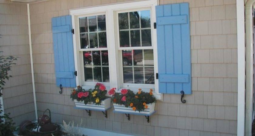 Interesting Exterior Window Shutters Sweet Home Design