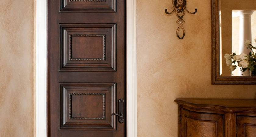 Interior Door Custom Single Solid Wood Walnut