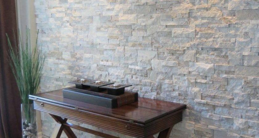 Interior Stone Walls Living Room Contemporary