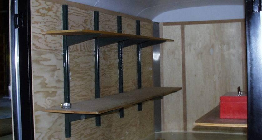Interior Walls Shelves Installed