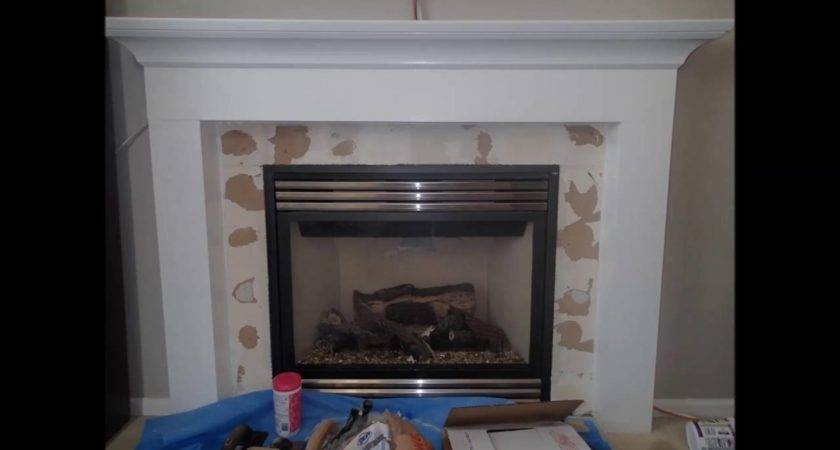 Issues Installing Tiles Around Fireplace Drywall