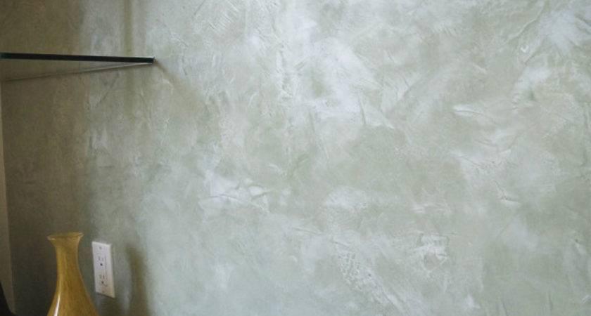 Italian Plaster Wall Treatment Bathroom Eclectic