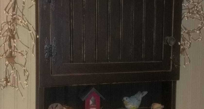 Items Similar Primitive Medicine Cabinet Spice Cupboard