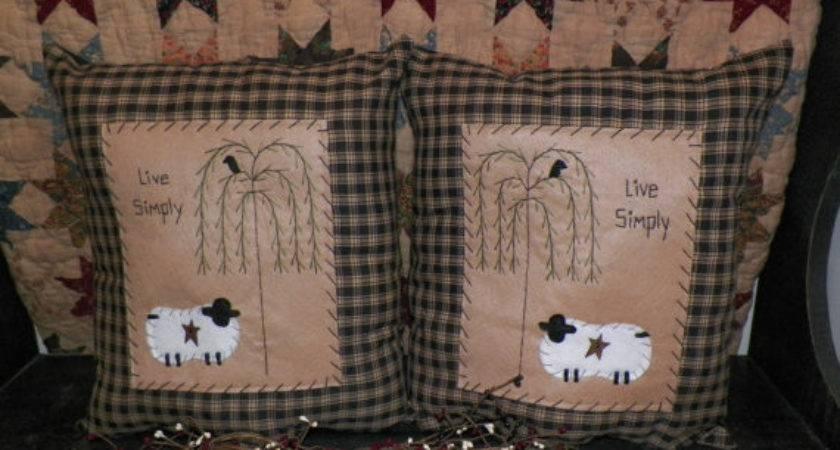 Items Similar Primitive Sheep Pillow Set Pillows Prim