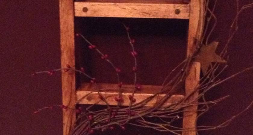 Items Similar Primitive Wooden Ladder Wall