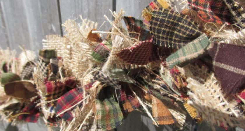 Items Similar Rustic Fall Garland Burlap Homespun