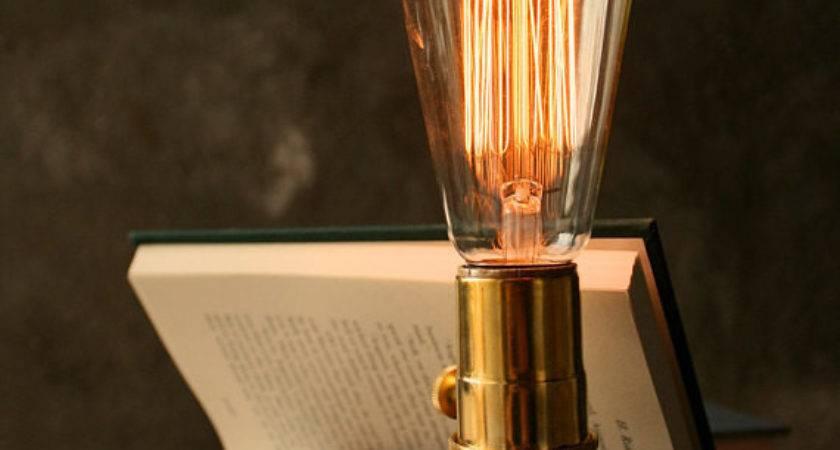 Items Similar Wood Lamp Diy Book Industrial Light