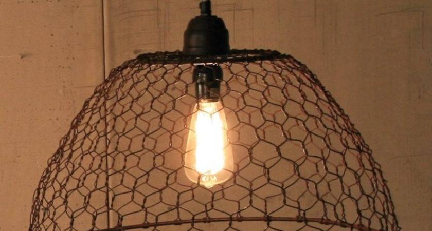 Kalalou Nnl Chicken Wire Basket Pendant Lamp