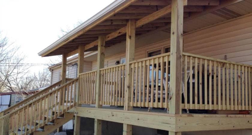 Kansas City Deck Build Over Hang Shingle
