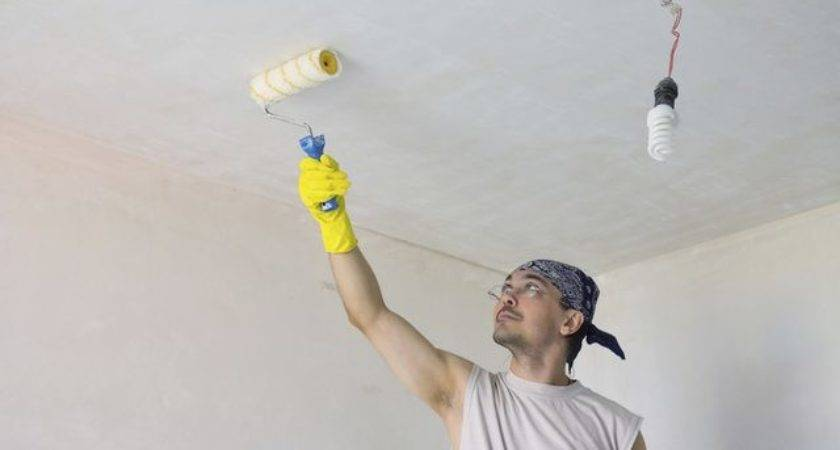 Kind Paint Covers Nicotine Stained Ceilings Hunker