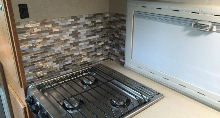 Kitchen Backsplash Modification Truck Camper Adventure