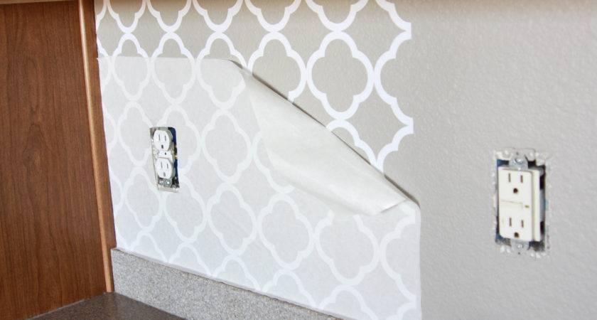 Kitchen Backsplash Pantry Bathroom Upgrade Vinyl