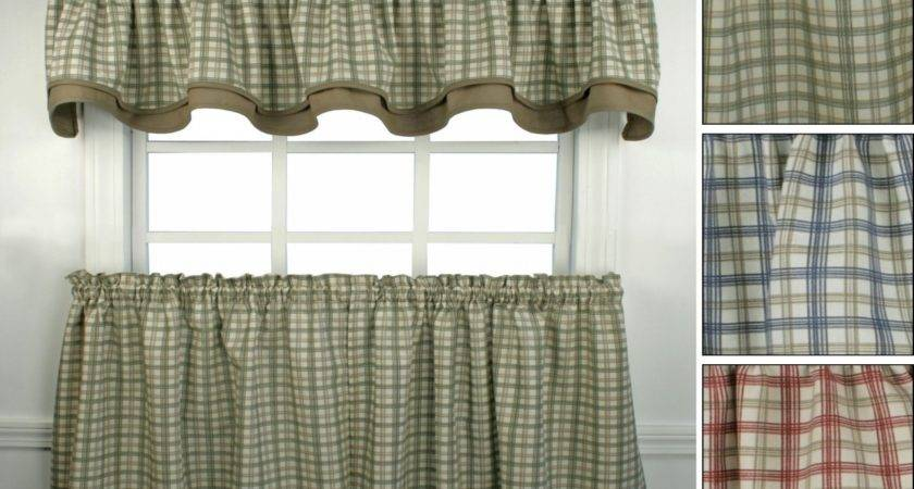 Kitchen Curtains Primitive Plaid
