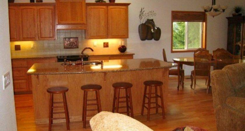 Kitchen Dining Area Small Open Living Room Design
