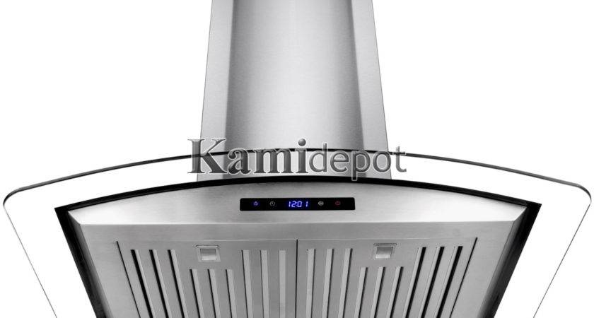 Kitchen Fan Stove Vent Stainless Steel Power Wall