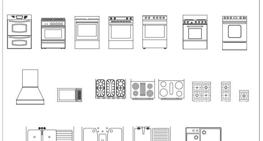 Kitchen Floor Plan Symbols Appliances Cafe Plans