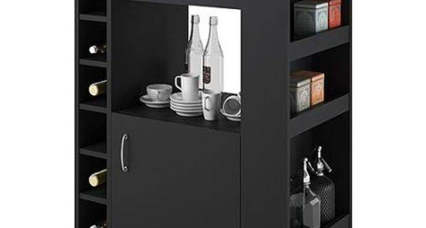 Kitchen Island Cart Rolling Pantry Wine Serving Cabinet