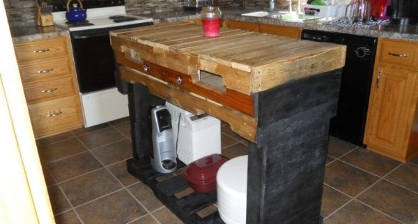 Kitchen Island Complete Made Out Pallets