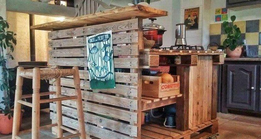 Kitchen Island Made Palletsdiy Pallet Furniture Diy