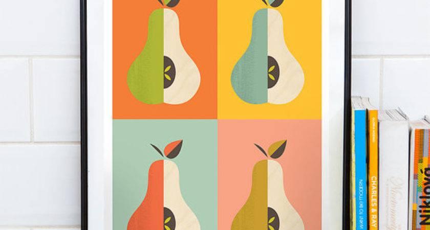 Kitchen Print Scandinavian Mid Century Modern Art