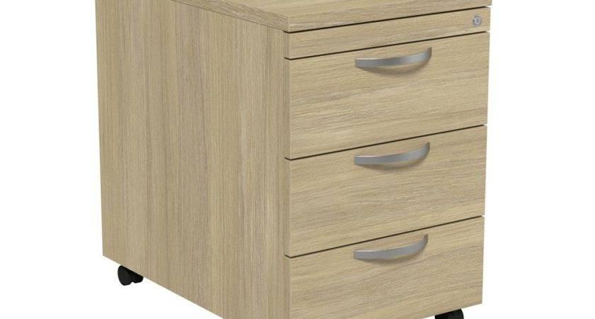 Kito Drawer Mobile Pedestal Oak Radius Office