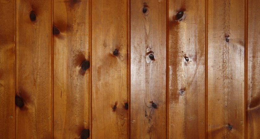 Knotty Pine Wood Wall Paneling Texture