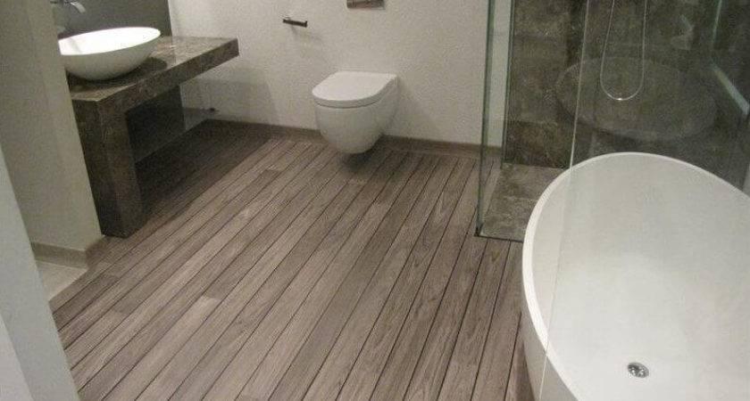 Laminate Wood Flooring Bathroom Decor Ideas