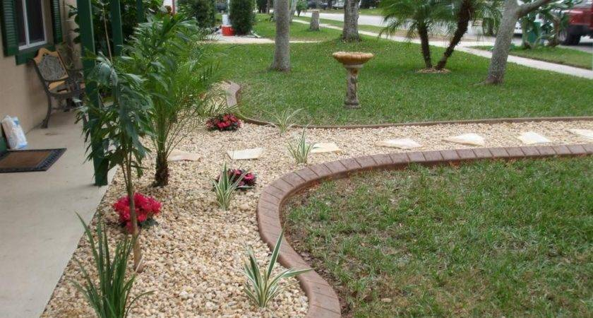 Landscape Front Yard Landscaping Ideas Rocks Within