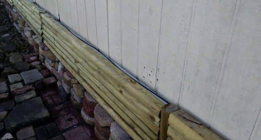 Landscape Timbers Mobile Home Skirting Log Cabin