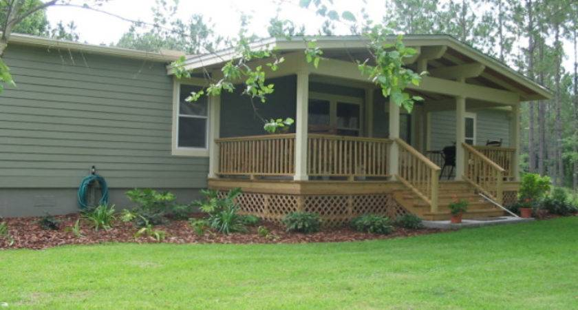 Landscaping Around Mobile Home Wooden