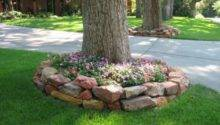 Landscaping Around Tree Home Design Garden