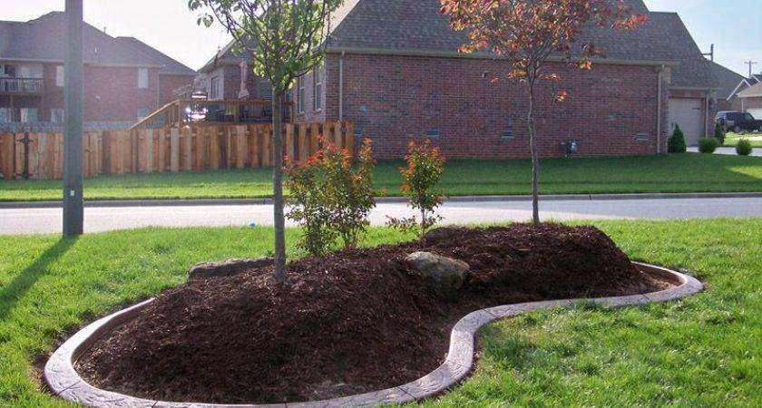 Landscaping Around Trees Concrete Border Applications