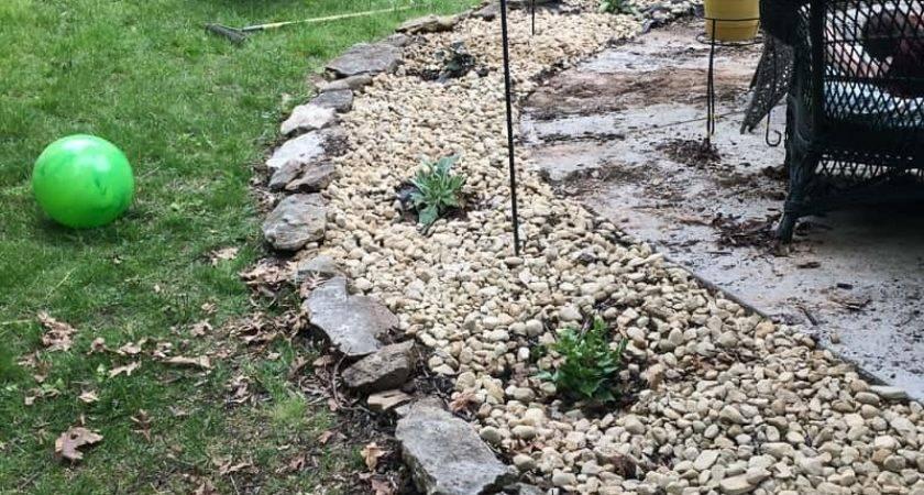 Landscaping Rock Instead Mulch Bigger Than
